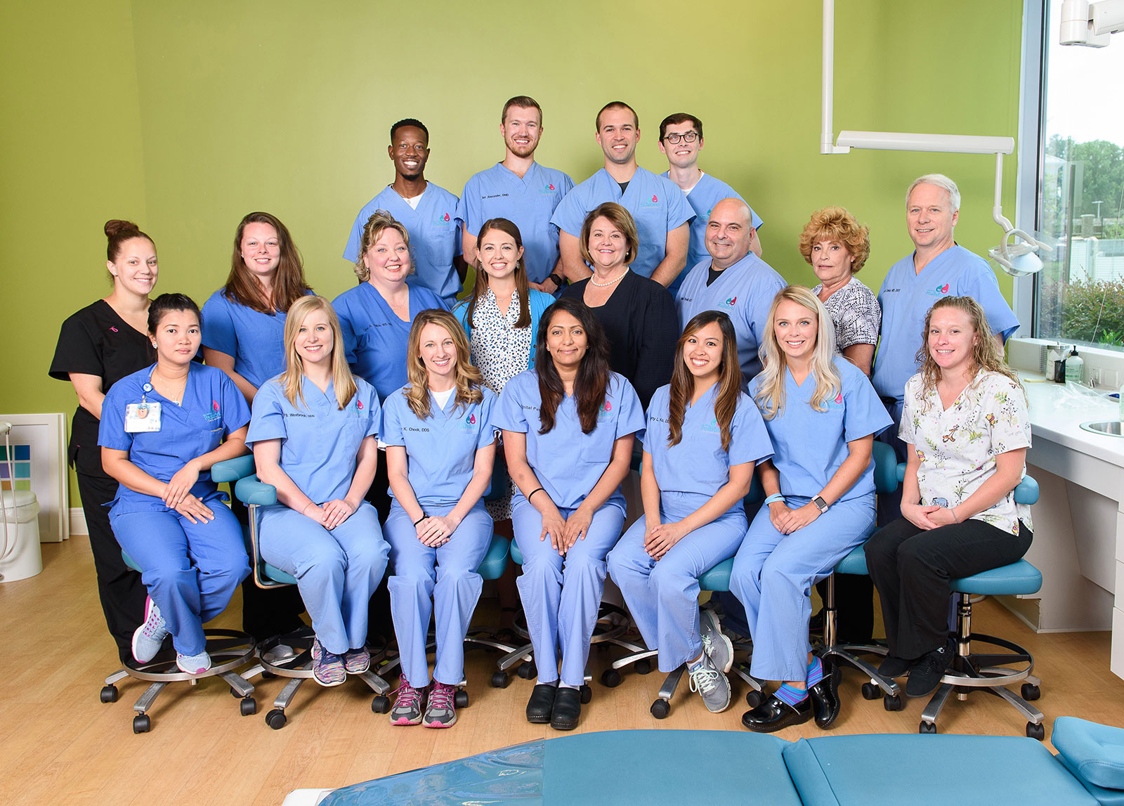 Bon Secours Medical Group | Pediatric Dental Associates Victor Amarteifio, DDS, Ian Alexander, DMD, Brian Schmitz, DMD, Carson Cruise, DMD, Madison Ayers, Brittany Chalkley, Lisa Childs, RN, Laura Cruise, Kitty Stallings, William Piscitelli, DDS, Linann Singer, John Unkel, DDS, MD, MPA, Krizzia Thomas, Molly Westbrook, DDS, Emily Cheek, DDS, Shital Patel, DDS, Brittany Ko, DDS, Jennifer Rominger, DMD, Tiffany Garnett (not pictured: Tiffany Jones)